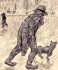 Lucien Laforge. Chemineau. Encre, aquarelle et crayons vers 1910