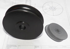 "3"" (76mm) dia. solid Acetal sheave (Other sizes + bushing can be made)"