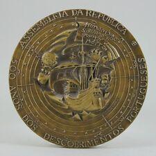 Portuguese Discoveries 500 YEARS Beautiful Bronze Medal/ Nau/ Carrack (M8(c)