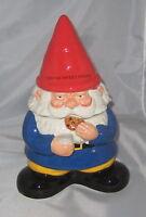 GNOME Cookie Jar Ceramic Red Blue Garden New Kitchen Decor