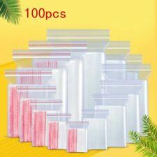 100pcs Zip Lock Ziplock Bags Clear Food Storage Package Vacuum Storage bag