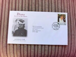 GIBRALTAR 1998 FDC PRINCESS DIANA IN MEMORIAM SKIING SKIER # RARE #