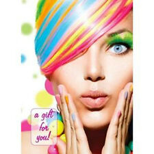Hairdresser Beauty Gift Voucher Cards Salon Modern Premium RAINBOW Design
