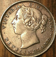 1899 NEWFOUNDLAND SILVER 20 CENTS COIN - Hooked 99 - Excellent example!