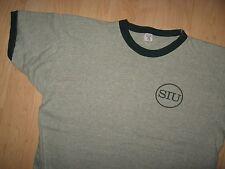 Southern Illinois University Tee - Vintage Velva Sheen 1960's Thin T Shirt L/XL