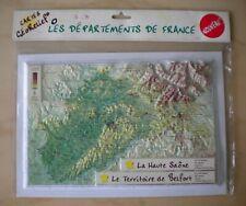 Carte en Relief, La Haute Saône 70 et Territoire de Belfort 90, Géorelief,
