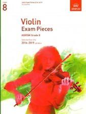 Piezas de examen de violín de grado 8 ABRSM Libro Música parte de violín 2016-19 y la puntuación de piano