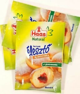 Glutenfree Haas dried yeast 3 x 7g Sachets Bread&Baking Fast Acting BBE 02/2022