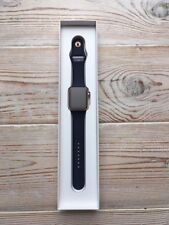 Apple Watch series 1: 42mm rose gold, midnight blue sport band. New and unworn.
