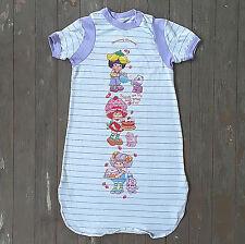VTG 1980s Strawberry Shortcake Pajamas Nightgown Girls White Lavender SMALL 6-7