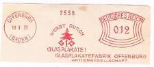 1933 AFS Offenburg Glasplakate  GO AG Tanne Glas