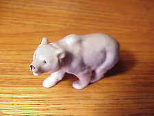 "VINTAGE SMALL BLUE/WHITE GERMAN PORCELAIN PROWLING POLAR BEAR FIGURINE - 2 1/2"""