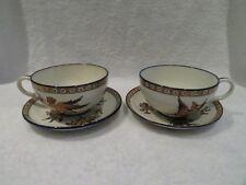 2 tasse à déjeuner Gien renaissance blanc (1876) (Gien breakfast cups)