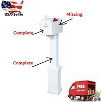 Postal Pro Craftsman Mailbox Post Kit White Outdoor Weather Resistant Waterproof