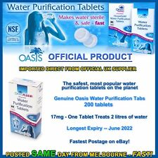 Water purification tablets Oasis 200pk cheapest tabs hiking camping prepper