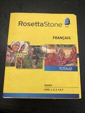 Rosetta Stone French Level 1-5 Version 4 PC Windows/MAC - W/ UNUSED CODE