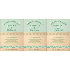3 Pk African Formula Neem Oil Oatmeal Acne Soap Jabon Hidratante Avena Piel Seca