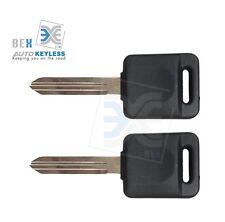 2 Uncut Compatible Transponder Ignition Key 46 ID Chip Nissan For 2007-09 Versa