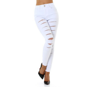 Jeans High Waist Ladies Skinny Jeans Jeans Trousers Used Look