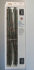 BACHMANN E-Z TRACK HO #6 LH CROSSOVER SWITCH W 2 CONTROLLERS ns train gray 44575