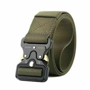 MEN Tactical Military Belt Adjustable Quick Release Work Holster Ratchet Belt US