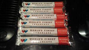 WORLD'S FINEST CHOCOLATE (3) W. F. CRISP x $1.00 Ea Bars