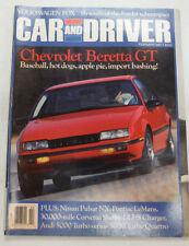 Car And Driver Magazine Chevrolet Beretta GT February 1987 051615R2