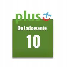 Doładowanie Plus 10 zł PLN AUTOMAT 24/7 PL WYSYŁKA W 2 MINUTY