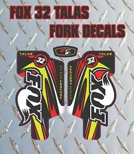 Fox 32 TALAS FORK Stickers Decals Graphics Mountain Bike Down Hill MTB 2014