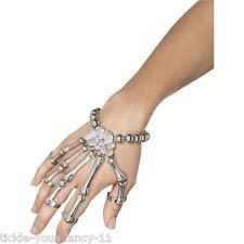 Para Mujeres Día de los muertos Brazalete de mano de esqueleto Accesorio De Halloween Vestido de fantasía