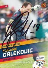 ✺Signed✺ 2013 2014 ADELAIDE UNITED A-League Card EUGENE GALEKOVIC