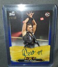 RHEA RIPLEY RC 2020 WWE NXT ON CARD AUTO AUTOGRAPH ROOKIE CARD BLUE SP /50 NM
