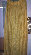 "Vintage  Fiberglass  DRAPES  CURTAINS    OPEN MESH   YELGOLD   DOUBLE 48"" 1970S"