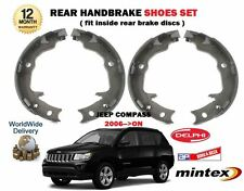 FOR JEEP COMPASS 2.0DT 2.2DT 2.4i 9/2006-->on NEW REAR HAND BRAKE SHOES SET