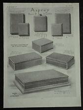 Asprey Gold Cigar Box Flask Cigarette Match Cases  1929 Page Ad Advertisement