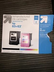 Up & Up Remanufactured Replacement Ink for HP 63+63 Black and Tri-Color