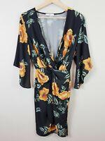 SHEIKE | Womens Floral Print Faux Wrap Dress [ Size AU 8 or US 4 ]