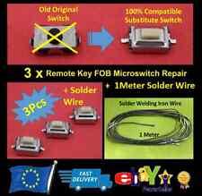 Solder Wire + Micro Switch Key Fob Vauxhall Opel Corsa C Meriva Tigra Combo BMW