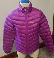 women Marmot 700 Fill Purple and Green Down Quilted Jacket sz SMALL EXCELLENT