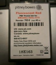 Lot of 3 Pitney Bowes Mailstation Ink Cartridge Flurescent Red Empty 765-9