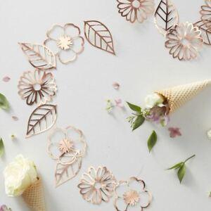 Rose Gold Foiled Flower Garland Ditsy Floral 18 Flowers 3m String Wedding