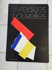 Vintage French Art Advertising Poster 1973 Realities Nouvelle Miotte Abstract