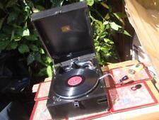 Portable  HMV  HIS MASTER'S  VOICE Gramophone  Model 102 With Sound Box 5B