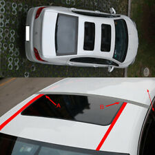 A609 Car Imitation Fake Sunroof Sticker Black Glossy Wrap Roof Vinyl Film DIY