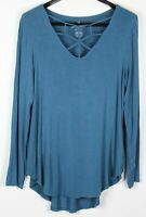 AMERICAN EAGLE OUTFITTERS XXL Plus Women's Top Long Sleeve Tunic Blue