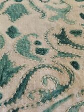 POTTERY BARN REILLEY Green - LINEN - EMBROIDERED PILLOW COVERS 22""
