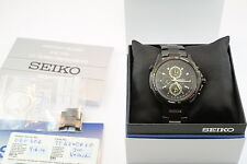 Seiko Criteria Flight Master Alarm Chronograph Black Men's Watch SNAD77P1