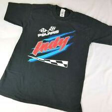 Vintage Polaris Indy TShirt Snowmobile Fruit of the Loom Size L Chest 42 in Worn