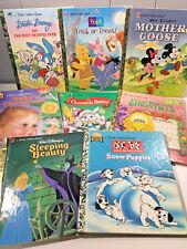 LOT OF 8 VINTAGE LITTLE GOLDEN BOOKS MOTHER GOOSE CHRISTMASP POOH 101 DAL.