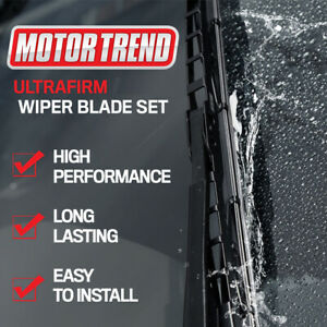 """Easy Install Motor Trend Windshield Wiper Blades OEM Replacement Wipers 16"""""""
